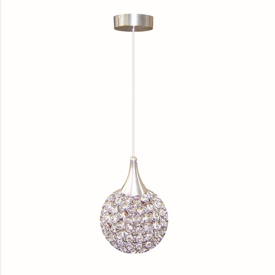 Simple Iron Crystal Pendant Lamps E27 Bulb Led Lamps Living Room Pendant Lighting Led Lustre Light Pendant Lamp/droplight Z71|Pendant Lights| |  - title=