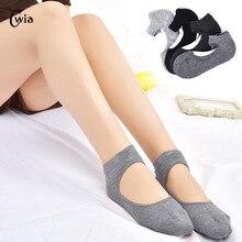 Весенние хлопковые носки для движения, нескользящие носки с круглым носком, открытая спина, женские носки, стойкий Цвет для женщин, носки jr01