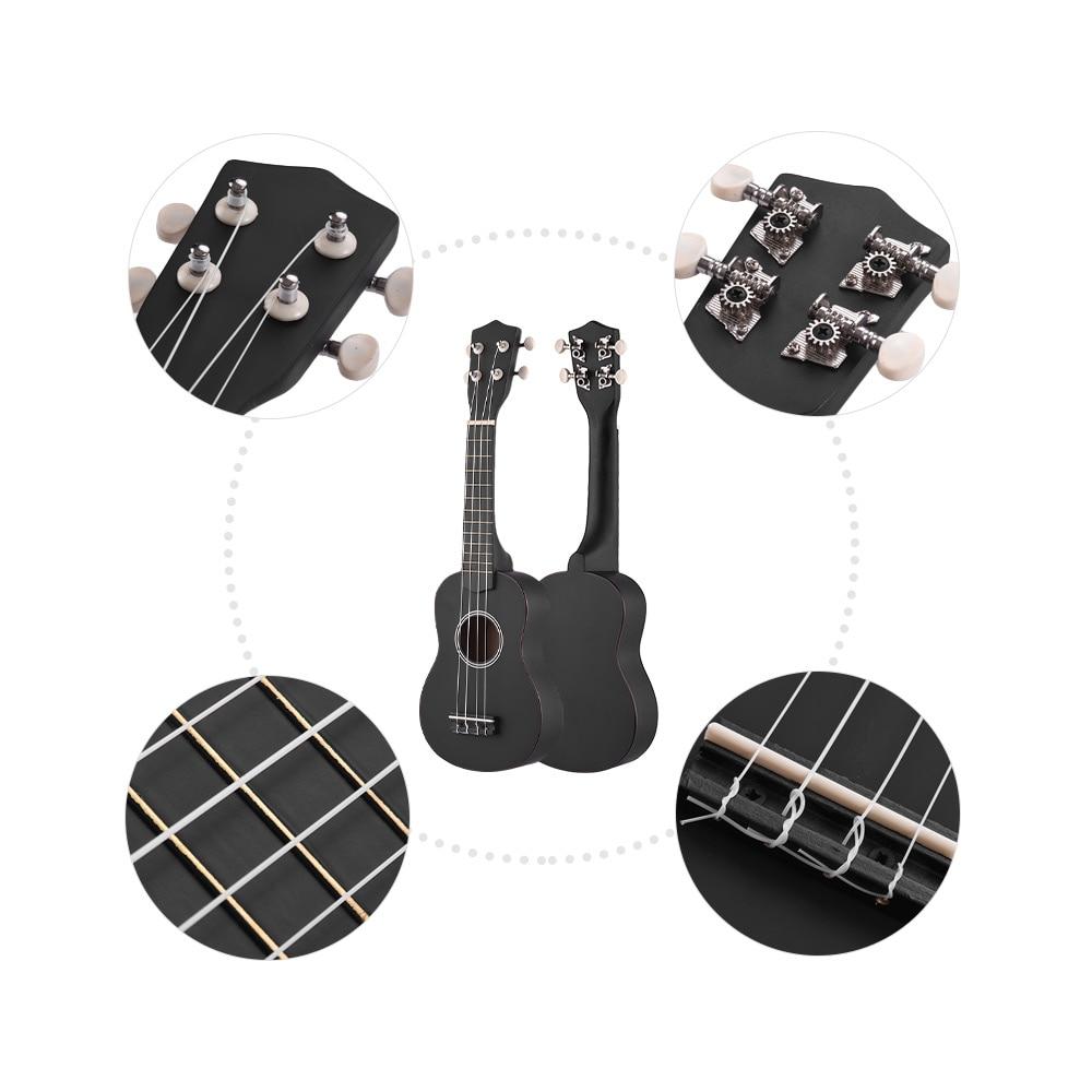 """21 """"Ukulele Set Colorato Acoustic Soprano Ukulele Ukulele Kit Tiglio con Borsa per il trasporto Della Cinghia Corde Picks Guitar Tuner"""