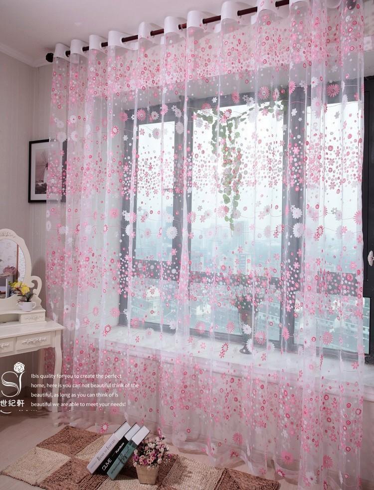 XinHuaEase Flower Rustic Roman Curtain Yarn Customize Finished ...