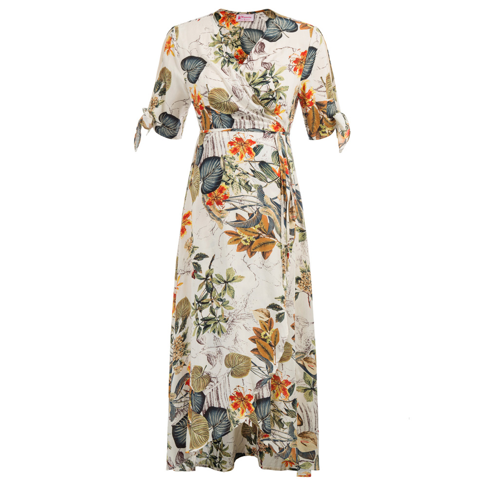e72a6403f2c Detail Feedback Questions about holiday casual long dress Women Maternity  summer tropical lady Floral Pattern split design Short Sleeve V Neck Wrap  Front ...