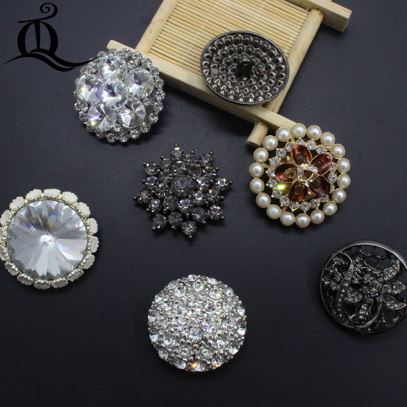 36-41mm 1pcs BIG NEW Craft Supplie Handmade Decorative Rhinestone Metal Buttons,sewing Buttons On Fur Coats Garment Accessories