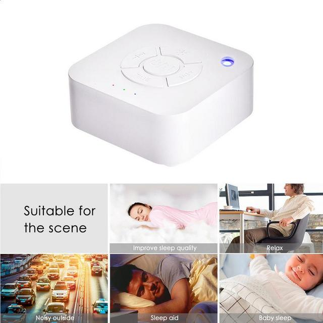 White Noise Machine USB Rechargeable Timed Shutdown Sleep Sound Machine For Sleeping Relaxation  1