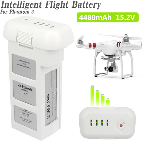 For DJI Phantom 2 3 11.1V  4480mAh 5200mAh  Drone Batterys Upgraded Large Capacity Spare Battery Vision + Quadcopter 66.6Wh 10C Pakistan
