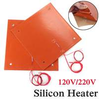 750w 310*310mm 120v/220v Flexible Waterproof Silicone Heated Bed Heating Heater Pad for CR 10 3D Printer Bed Holes
