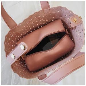 Image 5 - YASICAIDI sac fourre tout ajouré deux pièces Style femme, sac à épaule, tendance, Simple, diagonale été, 2019
