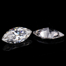 3.5*7mm marquise cut VVS Moissanite Super White Diamond 0.32  for Ring making