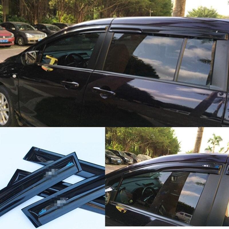 Voiture Style Fenêtre Pare-Soleil de Ventilation Pour Mazda 5 Mazda5 2006-2013 2007 2008 2009 Pluie Garde Soleil Pluie bouclier Autocollants Couvre