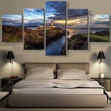 HD 5 Piece Ireland Steep Cliff Lighthouse Sunset Seascape Cuadros Landscape Canvas Wall Art Home Decor For Living Room Painting steep [xbox one]