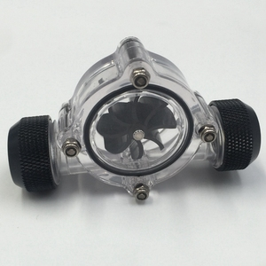 Image 2 - G1/4 Inch Flow Indicator,Clear Main Body,Black Blade,Matte Black Pc Computer Water Cooling System Flow Meter Indicator
