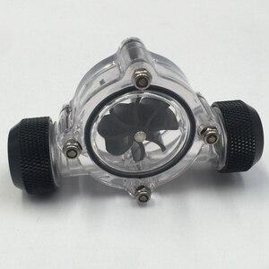 Image 2 - G1/4 дюймовый индикатор потока, чистый основной корпус, черное лезвие, матовый черный ПК компьютер система водяного охлаждения индикатор расхода