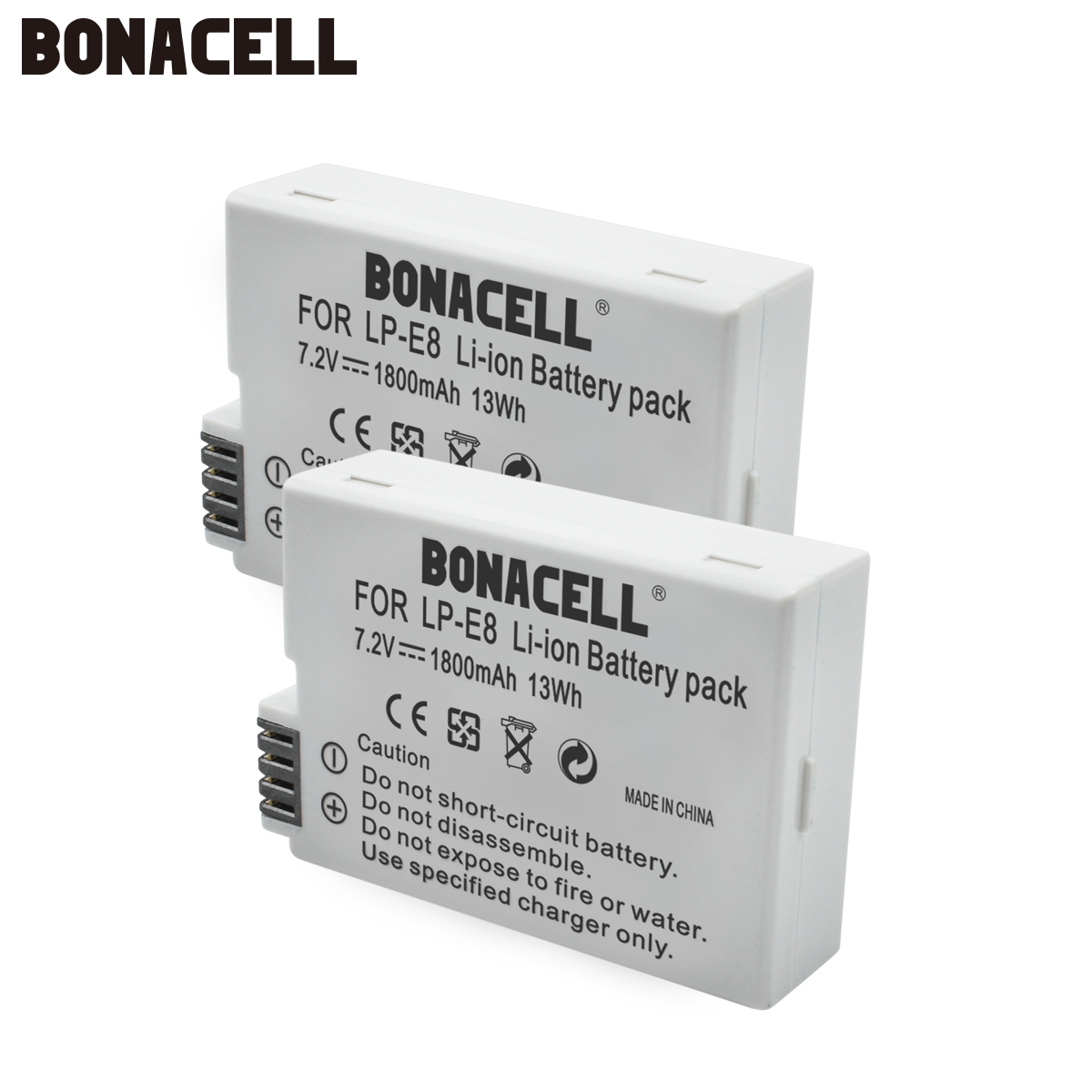 Bonacell V LP E8 LPE8 Camera <font><b>Battery</b></font> For <font><b>Canon</b></font> EOS <font><b>550D</b></font> 600D 650D 700D Kiss X4 X5 X6i X7i Rebel T2i T3i T4i T5 <font><b>Batteries</b></font> L50 image