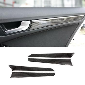 For Audi A4 B8 A5 2010 2011 2012 2013 2014 2015 2016 Carbon Fiber Window Door Panel Trim Cover 4pcs real carbon fiber interior window door panel trim cover inner sticker strip for audi a4 b8 a5 2010 2011 2012 2013 2016