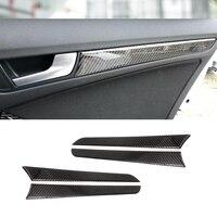 For Audi A4 B8 A5 2010 2011 2012 2013 2014 2015 2016 Carbon Fiber Window Door Panel Trim Cover