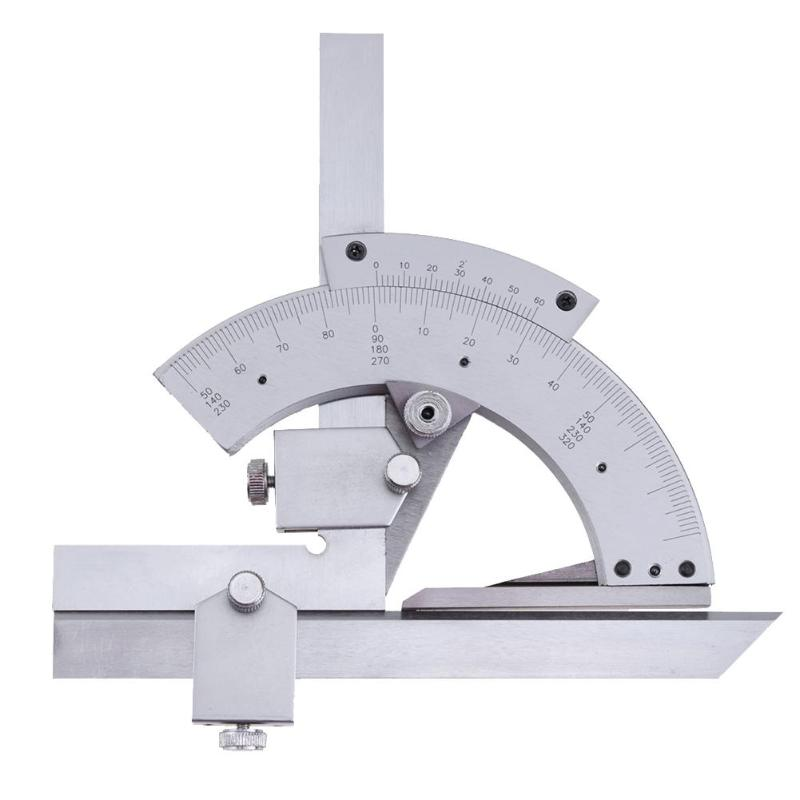 Transportador Universal 0-320 grados precisión Goniometer ángulo buscador de medición regla herramienta de medición