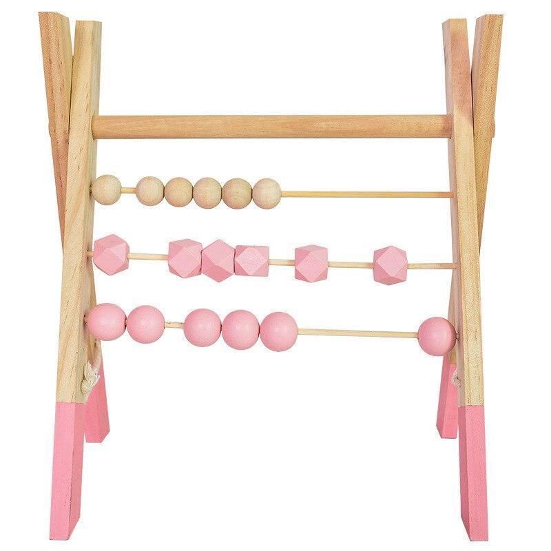 LM classique en bois éducatif comptage jouet Triangle étagère murale en bois boulier enfants début des mathématiques apprentissage jouet décor à la maison - 5