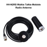 uhf dual band אנטנה Rondaful HH-N2RS מיני Dual-Band אנטנה מגנטית הר 5M RG58 PL-259 UHF / VHF שנקבע רכב נייד רדיו (1)