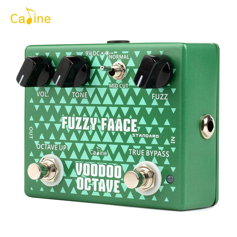 Caline CP 53 Electric Guitar Octave Fuzz Effect Pedal Aluminum Alloy Housing True Bypass Guitar Accessories