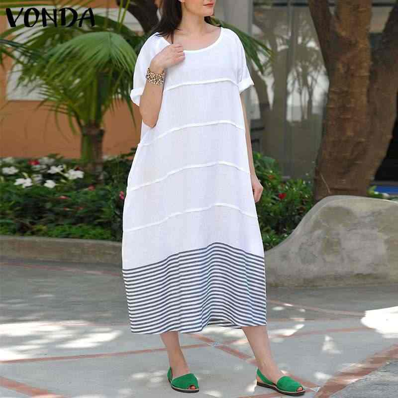0d83ecd115 Detail Feedback Questions about VONDA Cotton Dress Women 2019 Casual ...