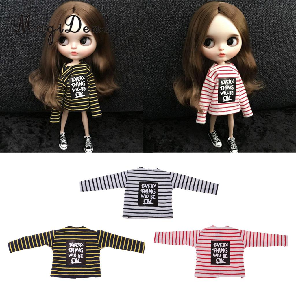 Trendy Doll Clothing Short-Sleeve T-shirts Tops for 1:6 Blythe Pullip Doll