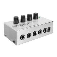 LEORY 4 канала линия моно аудио микшер мини портативный караоке аудио микшер MX400 микро микшер низкий уровень шума DC 12 В для семьи KTV
