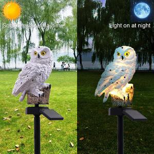 Owl Shape Solar-Powered Lawn L