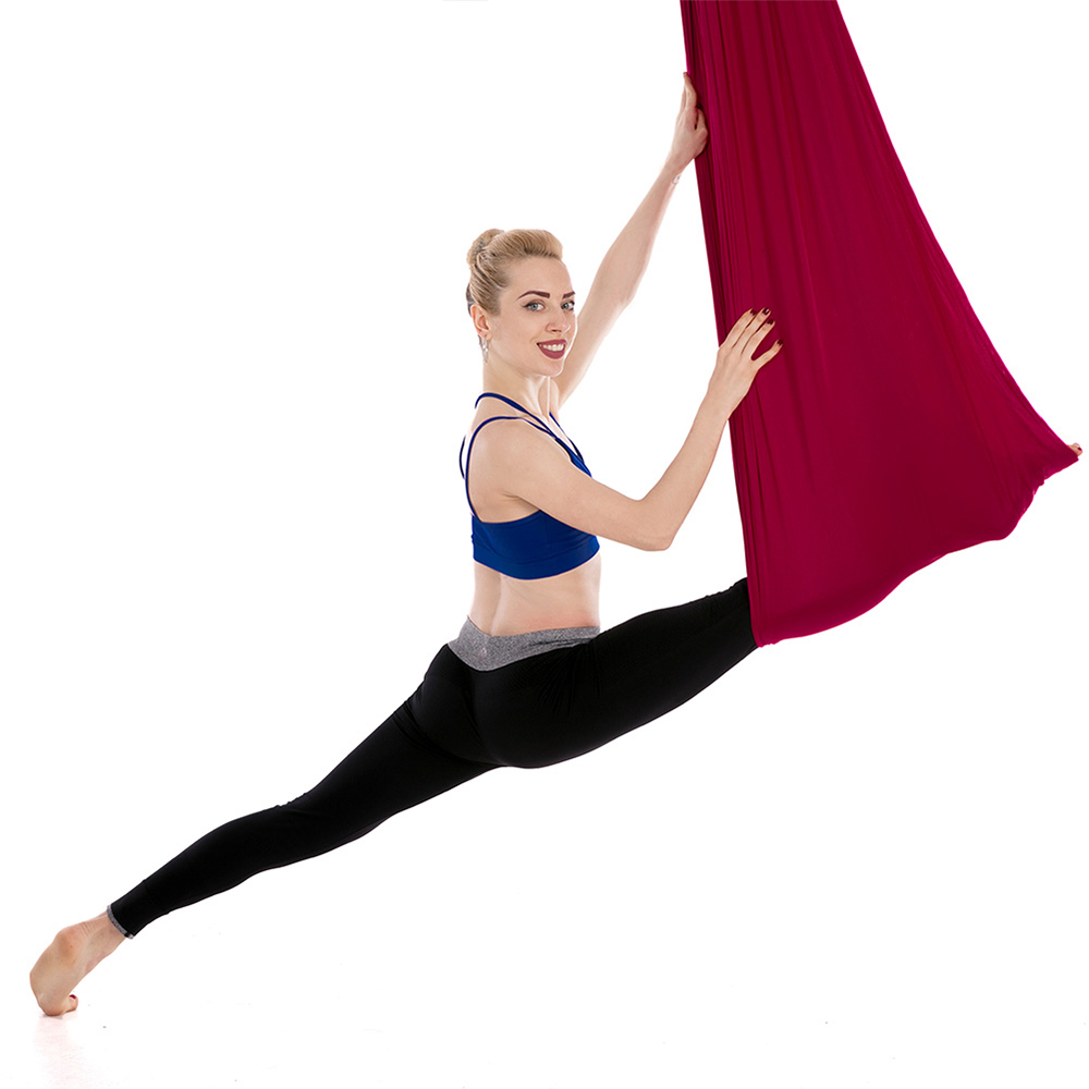 Yoga Belts Yoga Aerial Yoga Hammock 5m X 2.8m Yoga Swing Durable Aerial Anti-gravity Yoga Practicing Trapeze Resilient Inversion Exercise Strap To Help Digest Greasy Food