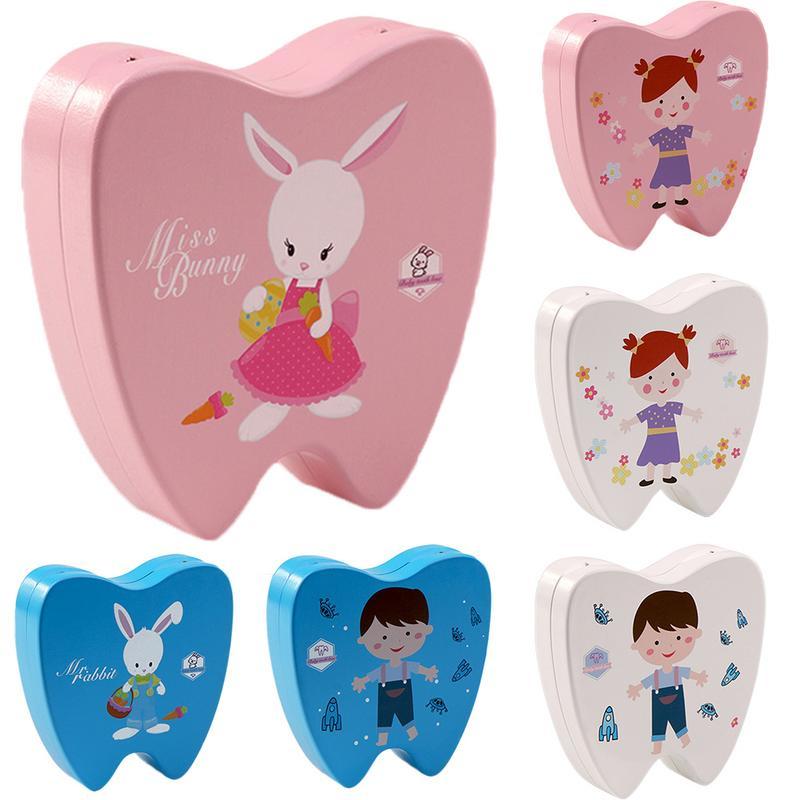 Baby Wood Tooth Box Organizer Milk Teeth Storage Collect Teeth Gift Baby Boy Girl Wood Case Save Milk Teeth Collection Organizer