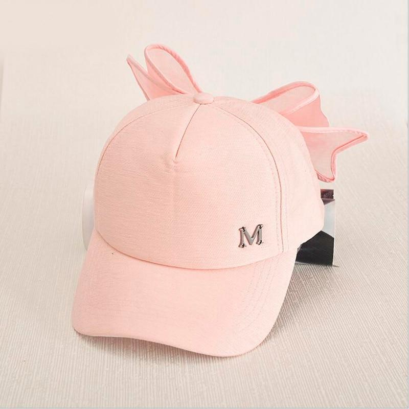 Parent-child Baseball Cap Fashion Mother Daughter Sun Cap Solid Bowknot Hat For Girls Wide Brim Summer Sun Cap Girls Clothing