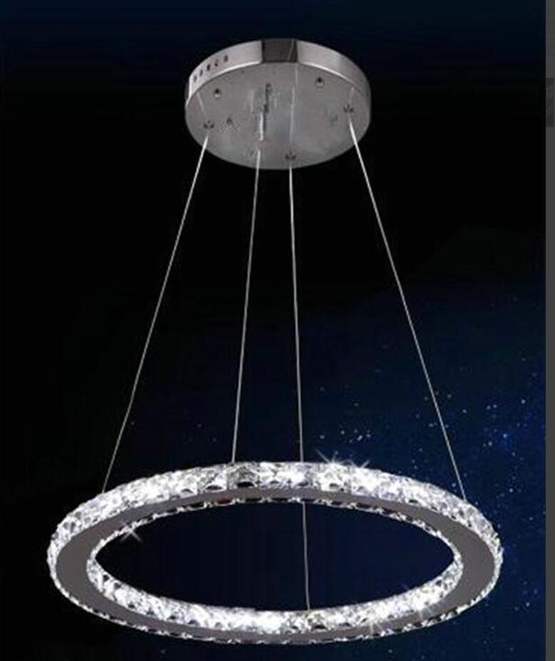 Fashion Ring Pendant Light Led Lamps Stainless Steel Led Crystal Pendant Lamps High-power Led Lustre Light Pendant LampFashion Ring Pendant Light Led Lamps Stainless Steel Led Crystal Pendant Lamps High-power Led Lustre Light Pendant Lamp