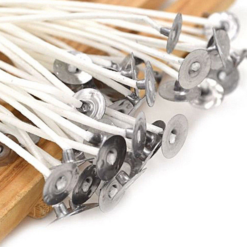 """20//50//100//200pcs 8/"""" Candle Wicks Cotton Core Candle Making Supplies Pretabbed"""