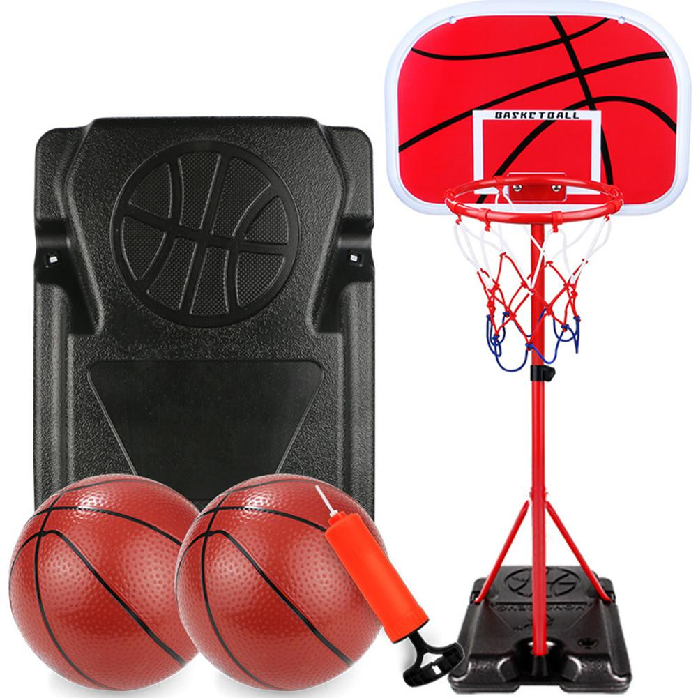 Children Gift Basketball Stand Adjustable Outdoor Indoor Sports Portable Basketball Hoop Toy Set Stand Ball Backboard Kit
