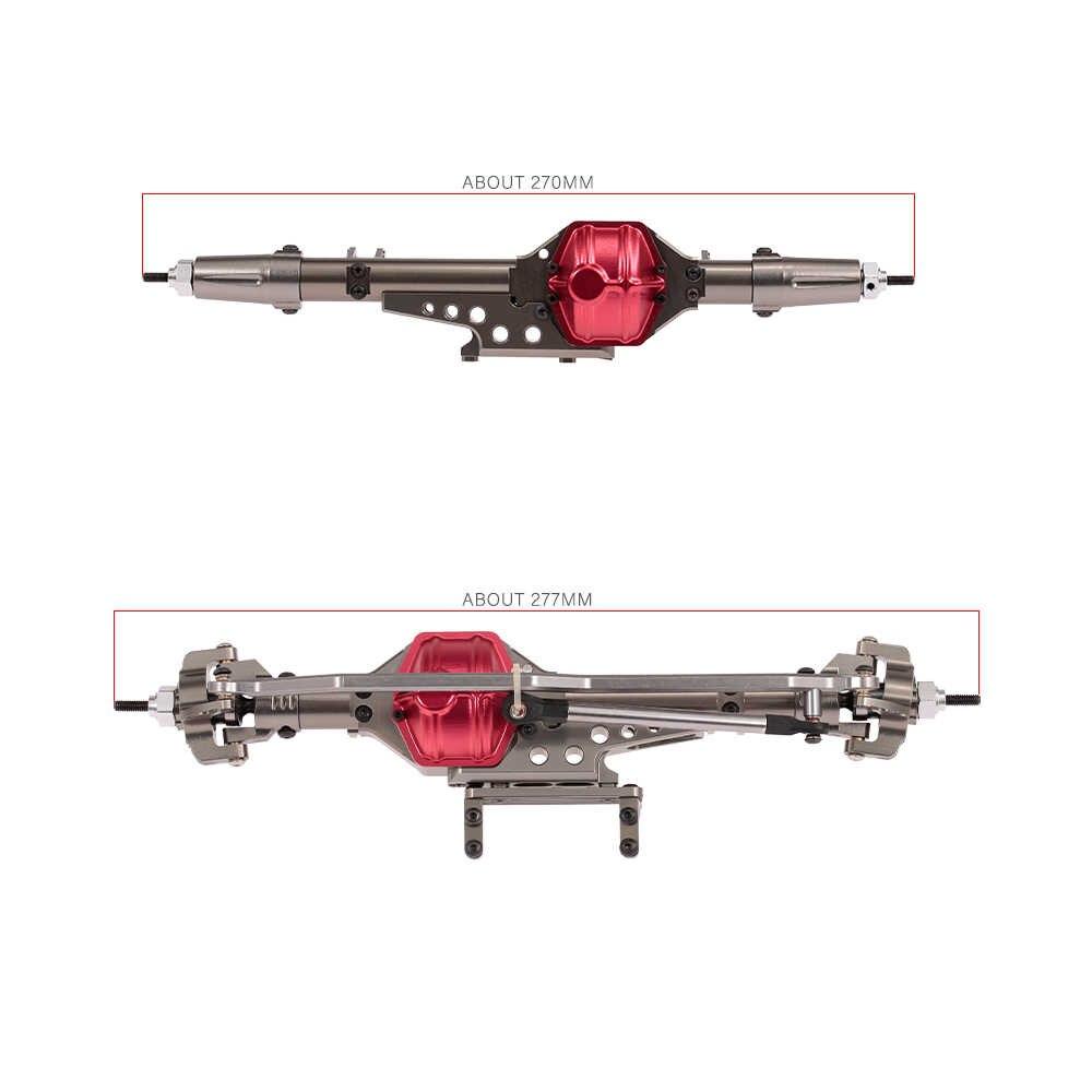 RC Auto Voor en Achter Brug As As Metalen voor 1:10 Axiale Wraith 90018 90020 90056 RC Crawler Klimmen Auto DIY Onderdelen