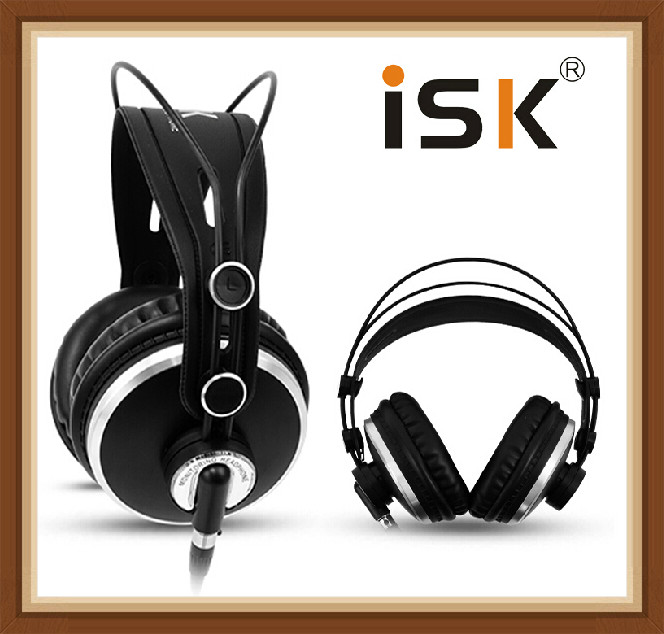 ISK HP980 HP-980 Noise Cancelling Super Bass Closed Back Hifi DJ Studio Monitoring Mix Recording Headphones Headset PK K272 image