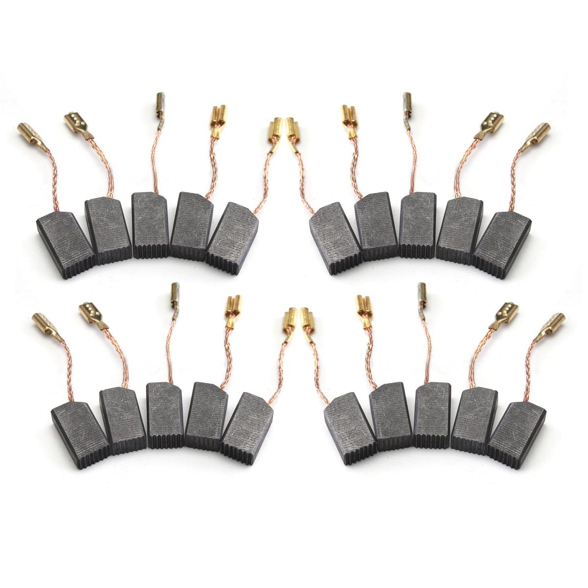 20pcs 6*8*14mm Graphite Copper Motor Carbon Brushes Set Tool Accessories