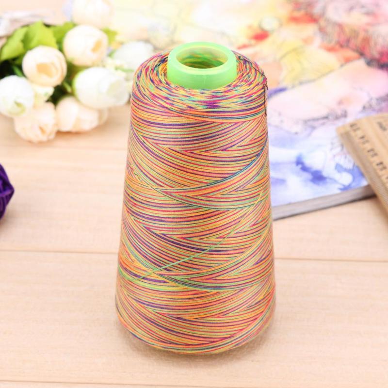 A-Level Rainbow Sewing Thread Diy Embroidery Sewing Yarn Knitting Thread w//