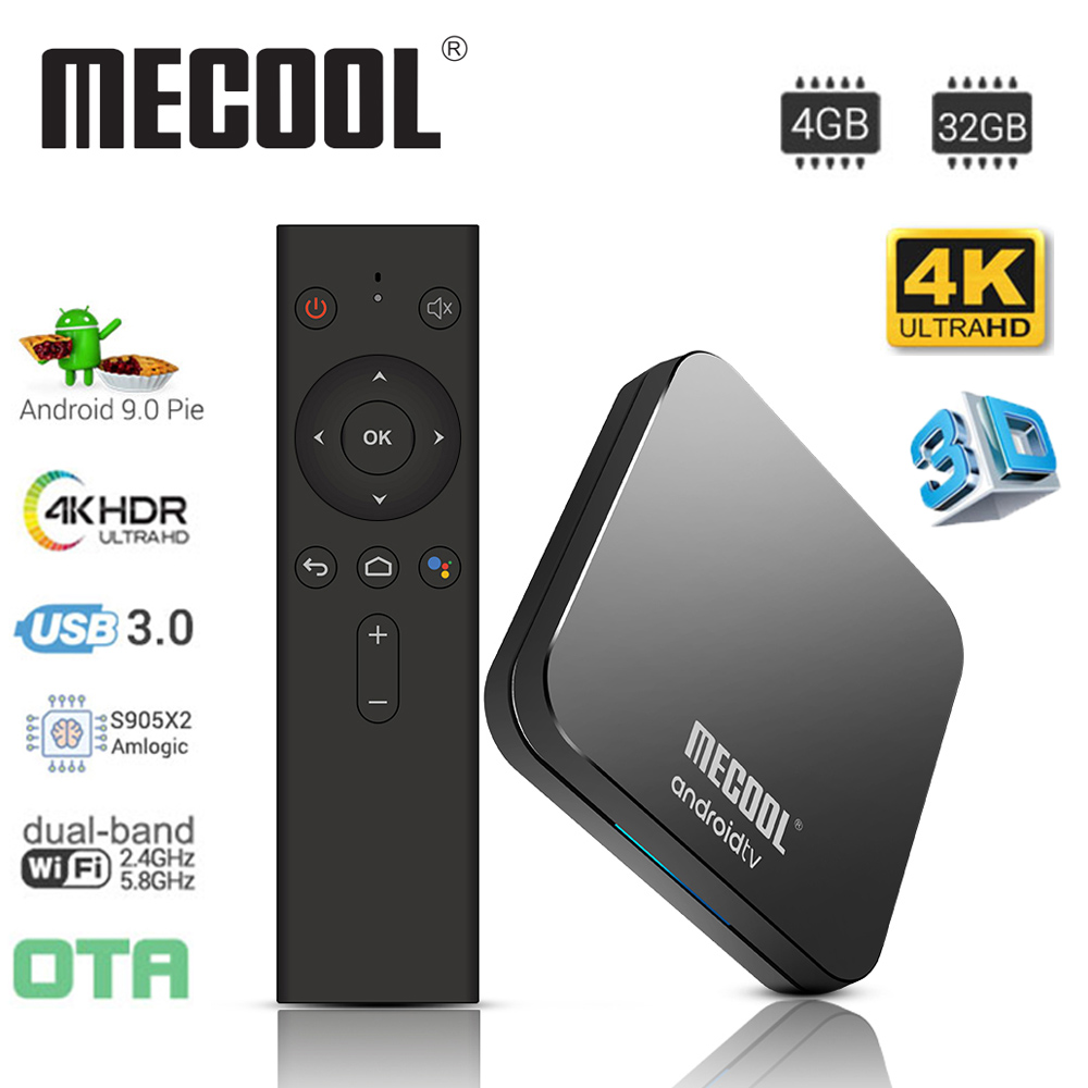 MECOOL KM9 Pro Smart Android 9,0 TV Box Amlogic S905X2 de 4GB + 32GB 4K Media Player 2,4 g/5G Dual Wifi Bluetooth 4,0 Miracast Airplay-in Decodificadores from Productos electrónicos on AliExpress - 11.11_Double 11_Singles' Day 1