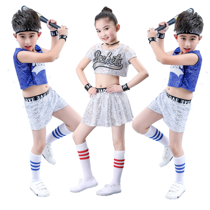 Songyuexia Children's New Jazz Dress Sequins Hip-hop Hip-hop Show Dress Cheerleading Costume For Kid
