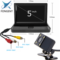 Auto Parking Assistance Rear View Camera Color LCD Video Foldable Monitor 5 inch TFT Screen Car monitor Rearview Reversing