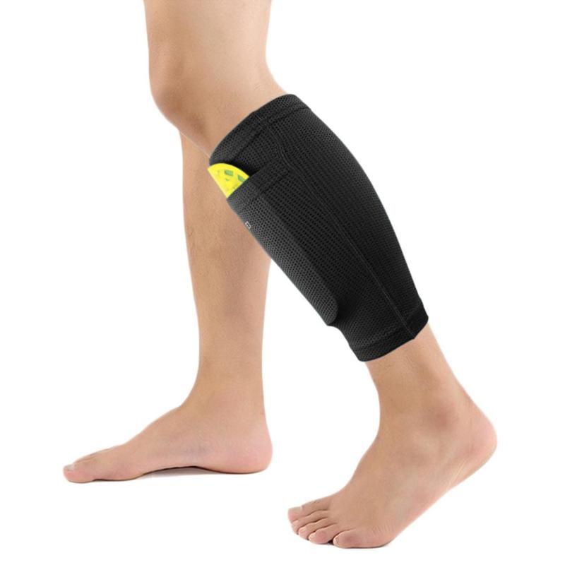 1 Pair Soccer Protective Socks Shin Pads Supporting Shin Guard Stretchable Wear Resistance with Pocket Sports Safety in Shin Guard from Sports Entertainment