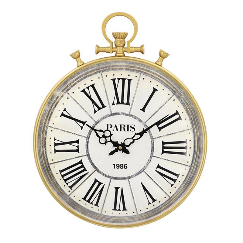 1 шт. Винтаж Ретро Металл американский творческий металлический таймер настенные часы для спальня украшения дома офисные гостиная кухня