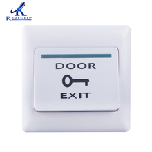 White Push Door Exit for Access Control System Release Button Security electric magnetic lock exit