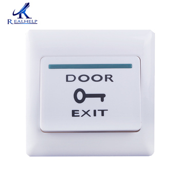 White Push Door Exit for Access Control System Release Button Security electric magnetic lock exit Button ir no touch door exit for access control system