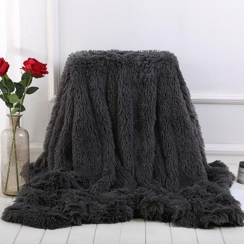 Новое поступление пушистое одеяло для кровати, дивана, покрывало, длинное мохнатое супер мягкое теплое постельное белье, простыня, Кондиционер
