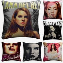 Lana Del Rey Pop Art Sexy Singer Decorative Linen Cushion Cover For Sofa Chair 45x45cm Throw Pillow Case Home Decor Almofada(China)