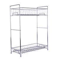 ITECHOR Demountable Double Layer Condiments Rack Practical Kitchen Spices Storage Shelf Kitchen Organize Rack Hot Sale Silver