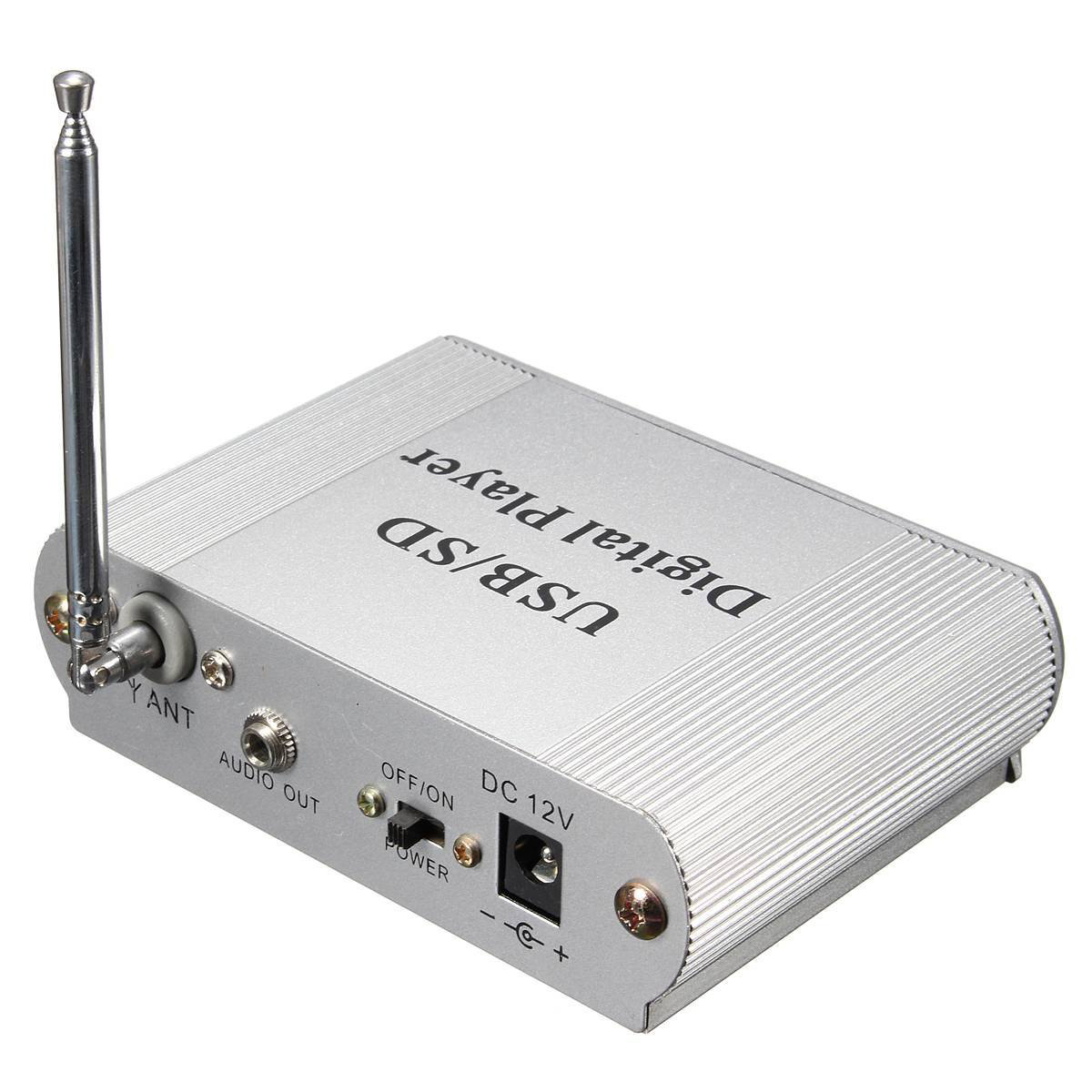 Full-mini Car Car Usb Digital Led Sd Audio Amplifier Amplifier Mp3 Decoder Sd / Mmc Card U Stick Fm Radio Player Remote With R