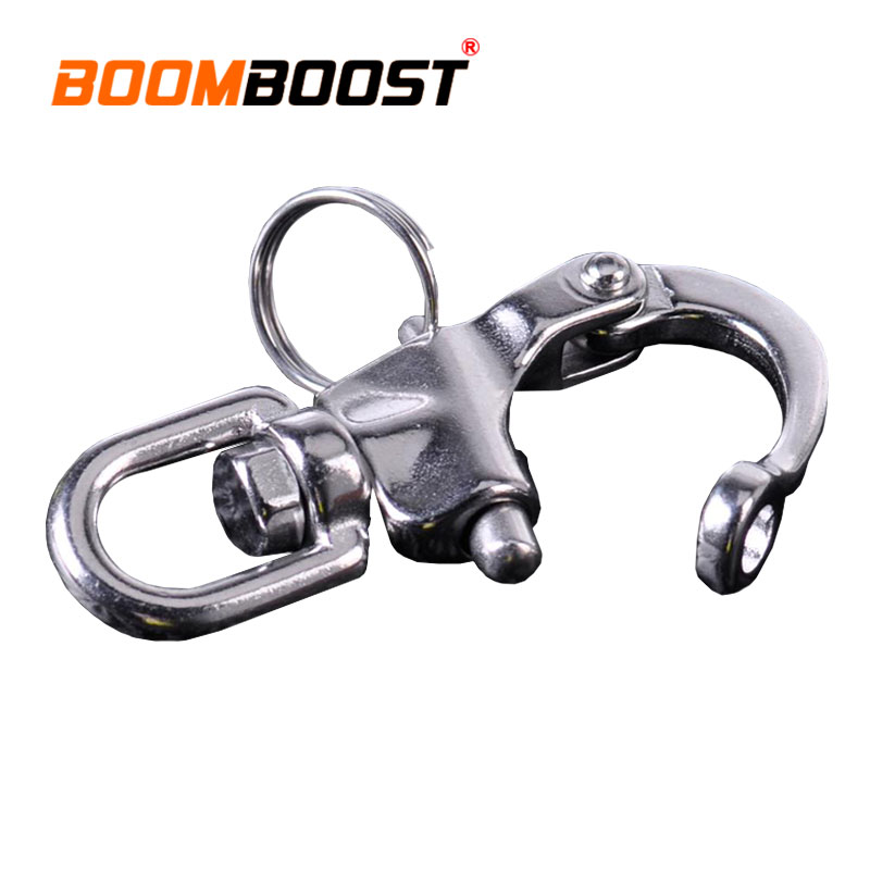 For Marine Architectural Heavy Duty Anchor Chain Yacht Sailing D Ring Quick Release Swivel Hook Eye Shackle 316 Stainless Steel