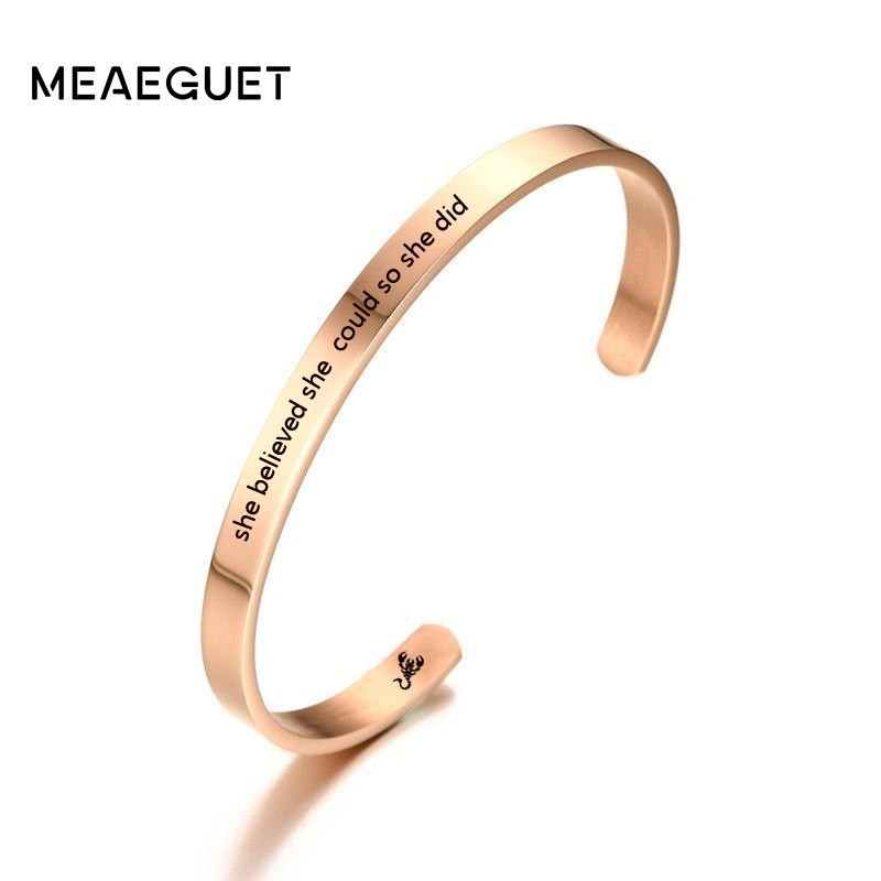 b63d85029e3 Detail Feedback Questions about Custom Cuff Bracelets For Women Engraved  Best Friend Gift Sister Stacking Femme Bangle Personalized Jewelry 6mm on  ...