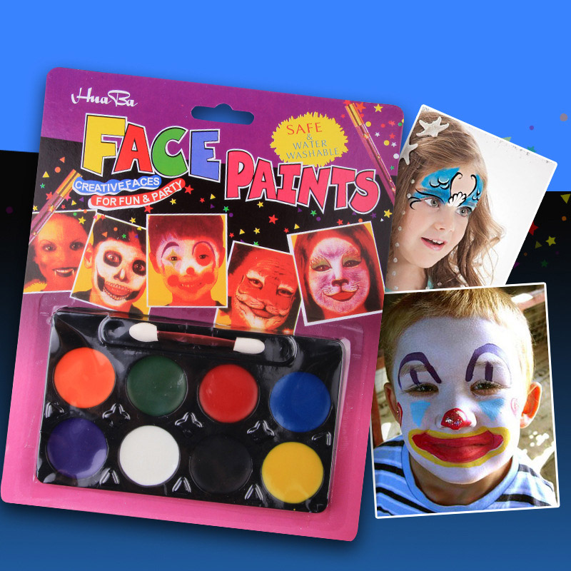 8 Colors Kids Washable Body Painting Set High Quality Non-toxic Face Paint Creatively Novel Watercolor Pigment For Children